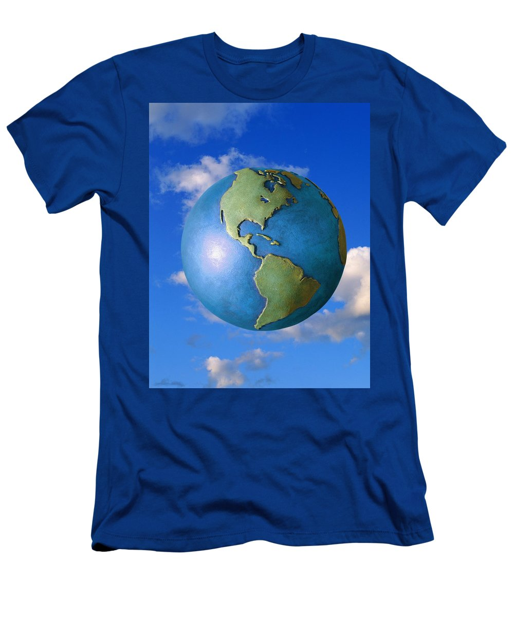 Clouds Men's T-Shirt (Athletic Fit) featuring the photograph A Globe In The Sky by Don Hammond