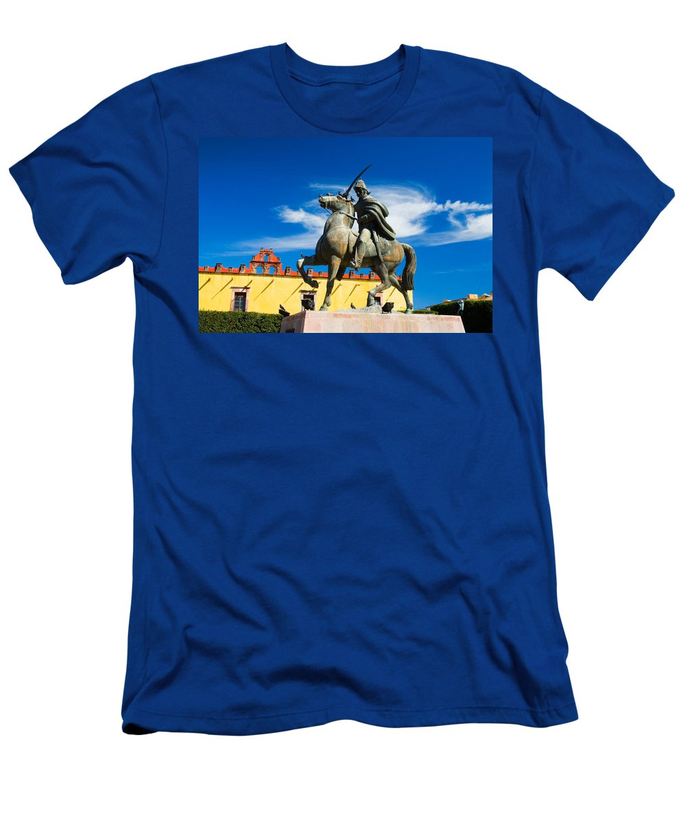 Architecture Men's T-Shirt (Athletic Fit) featuring the photograph A Ride In The Clouds by Eggers Photography