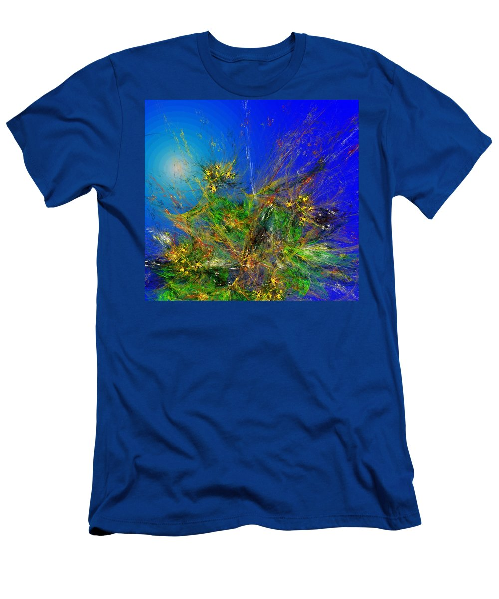 Fine Art Men's T-Shirt (Athletic Fit) featuring the digital art Abstract 090811 by David Lane
