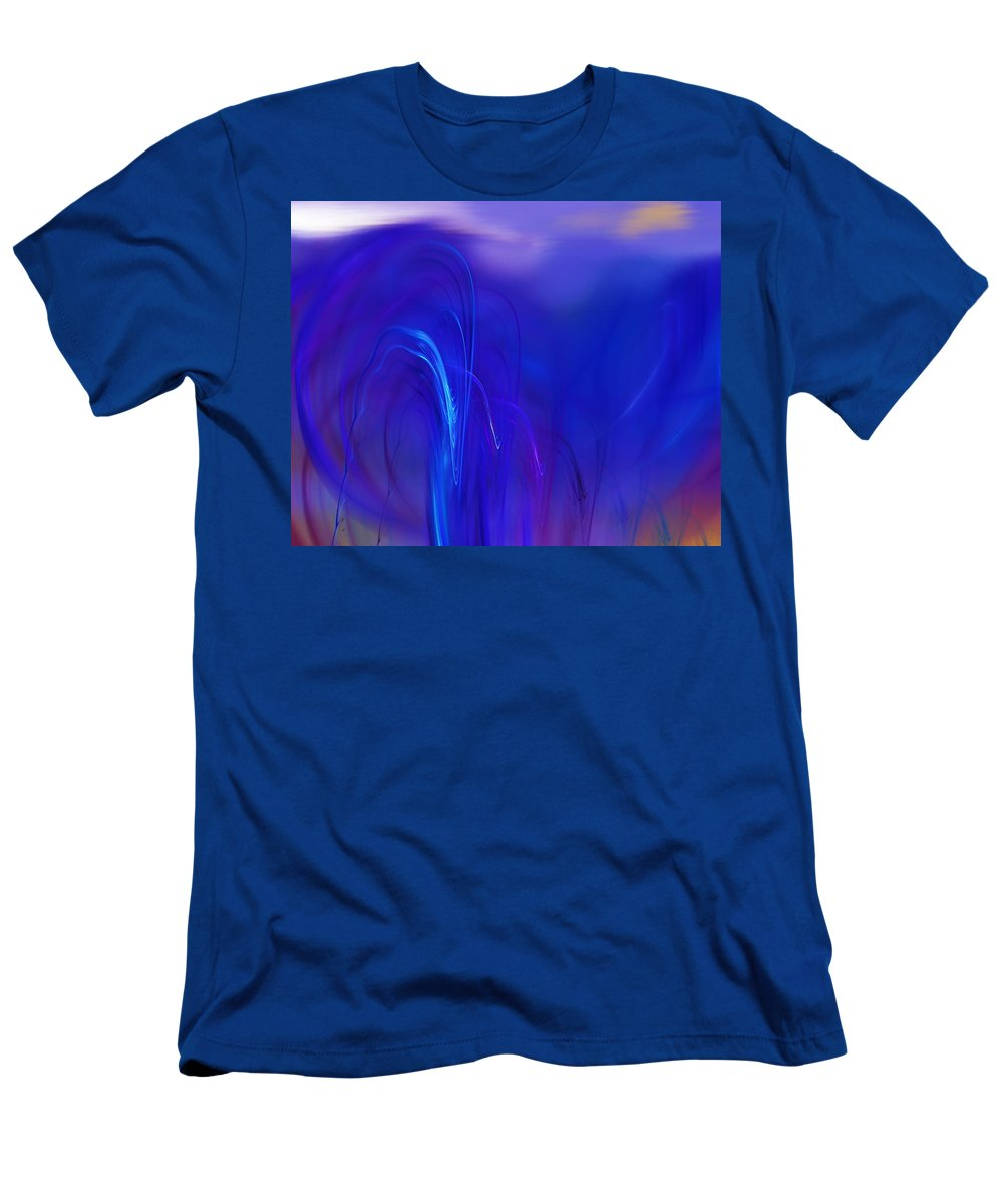 Abstract Men's T-Shirt (Athletic Fit) featuring the digital art Abstracted Landscape 090611 by David Lane