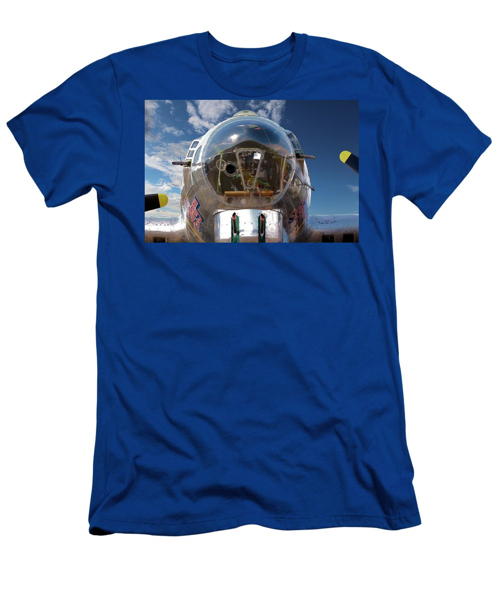 Aeroplane Men's T-Shirt (Athletic Fit) featuring the photograph B17 Flying Fortress by Paul Fell