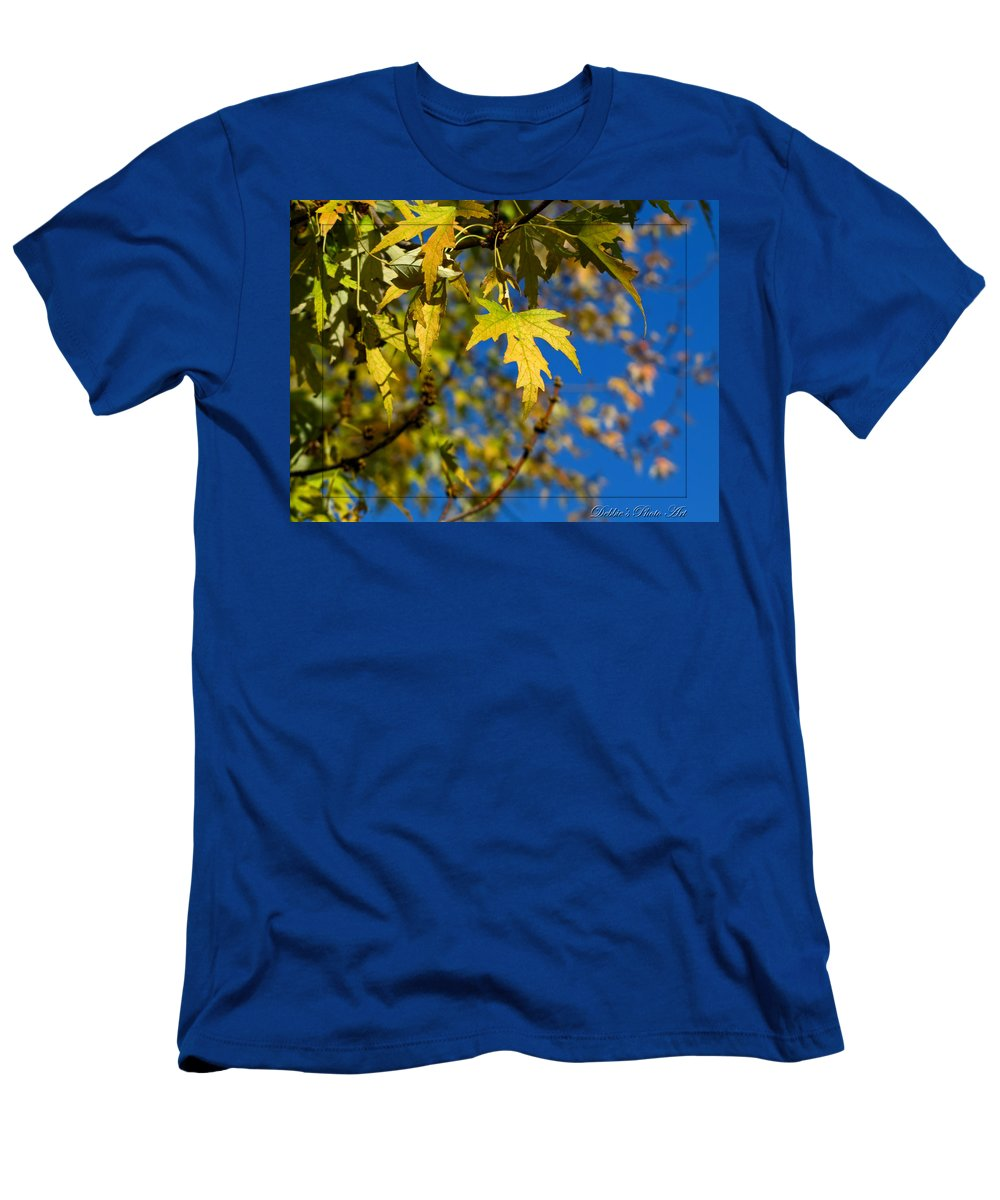 Men's T-Shirt (Athletic Fit) featuring the photograph Backyard Leaves by Debbie Portwood