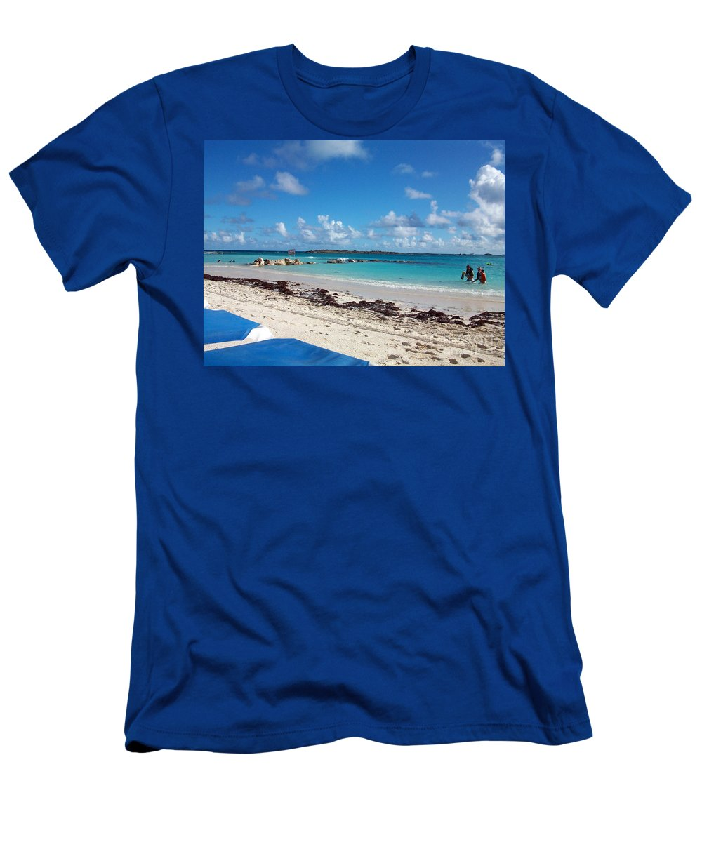 Bahamas Men's T-Shirt (Athletic Fit) featuring the photograph Bahamas Cruise To Nassau And Coco Cay by Allan Hughes