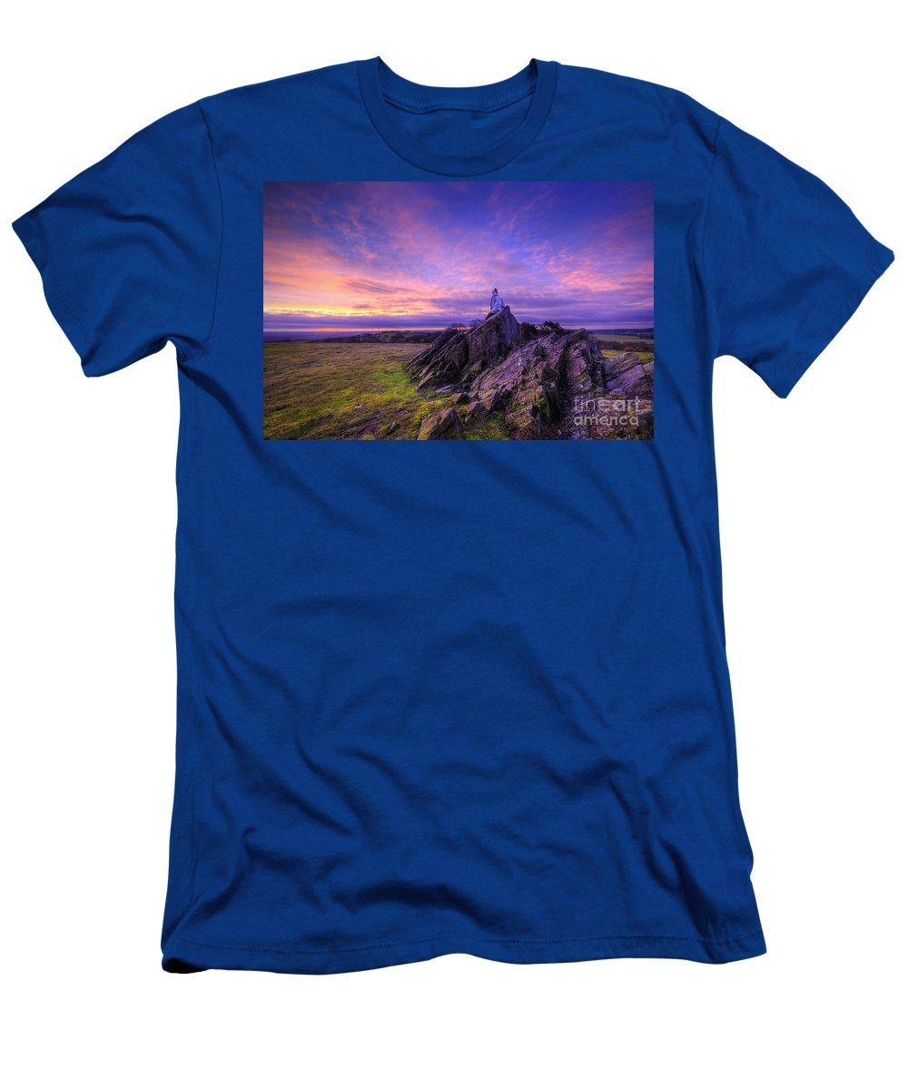 Art Men's T-Shirt (Athletic Fit) featuring the photograph Beacon Hill Sunrise 2.0 by Yhun Suarez