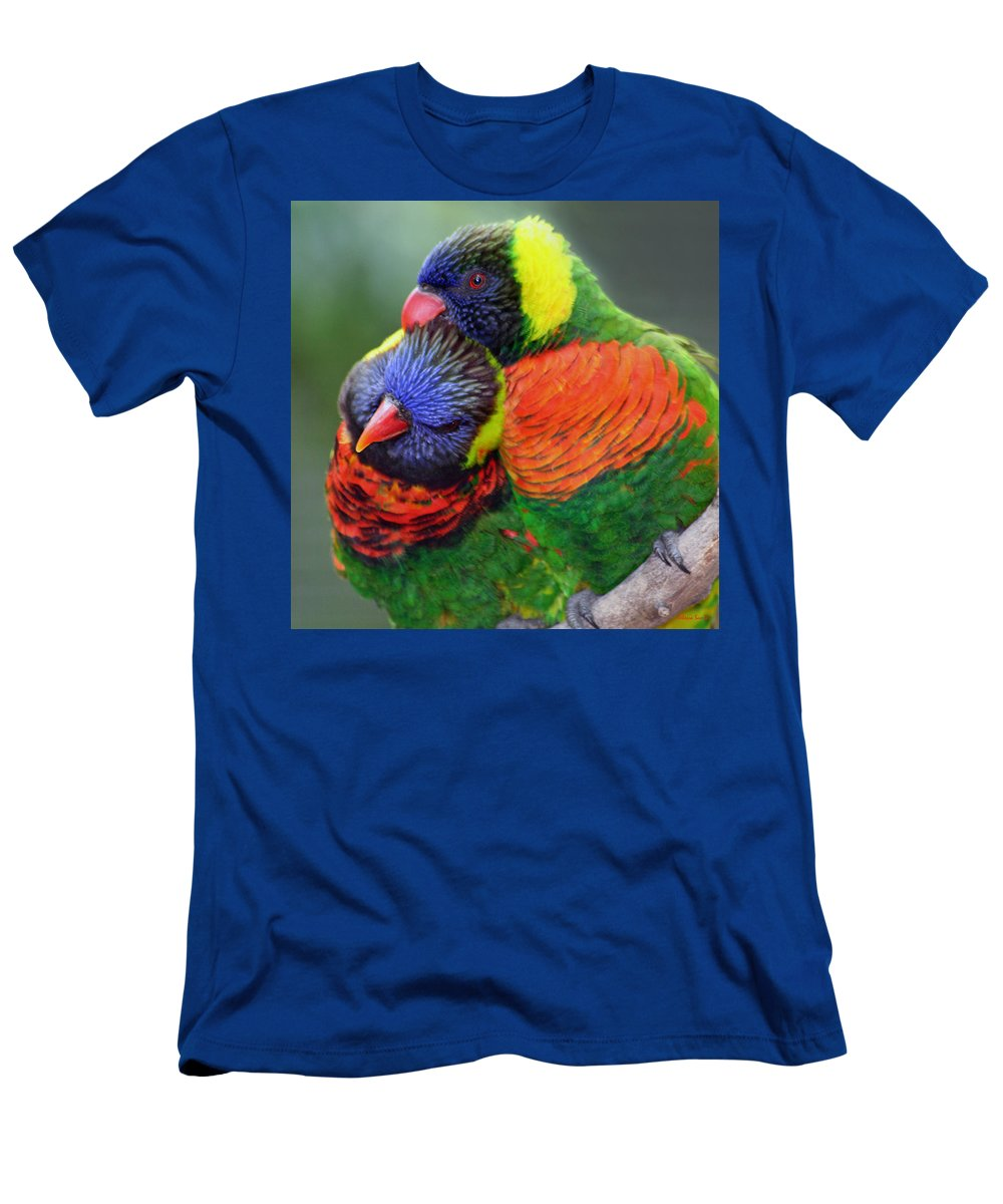 Birds Men's T-Shirt (Athletic Fit) featuring the photograph Best Friends by Rebecca Samler