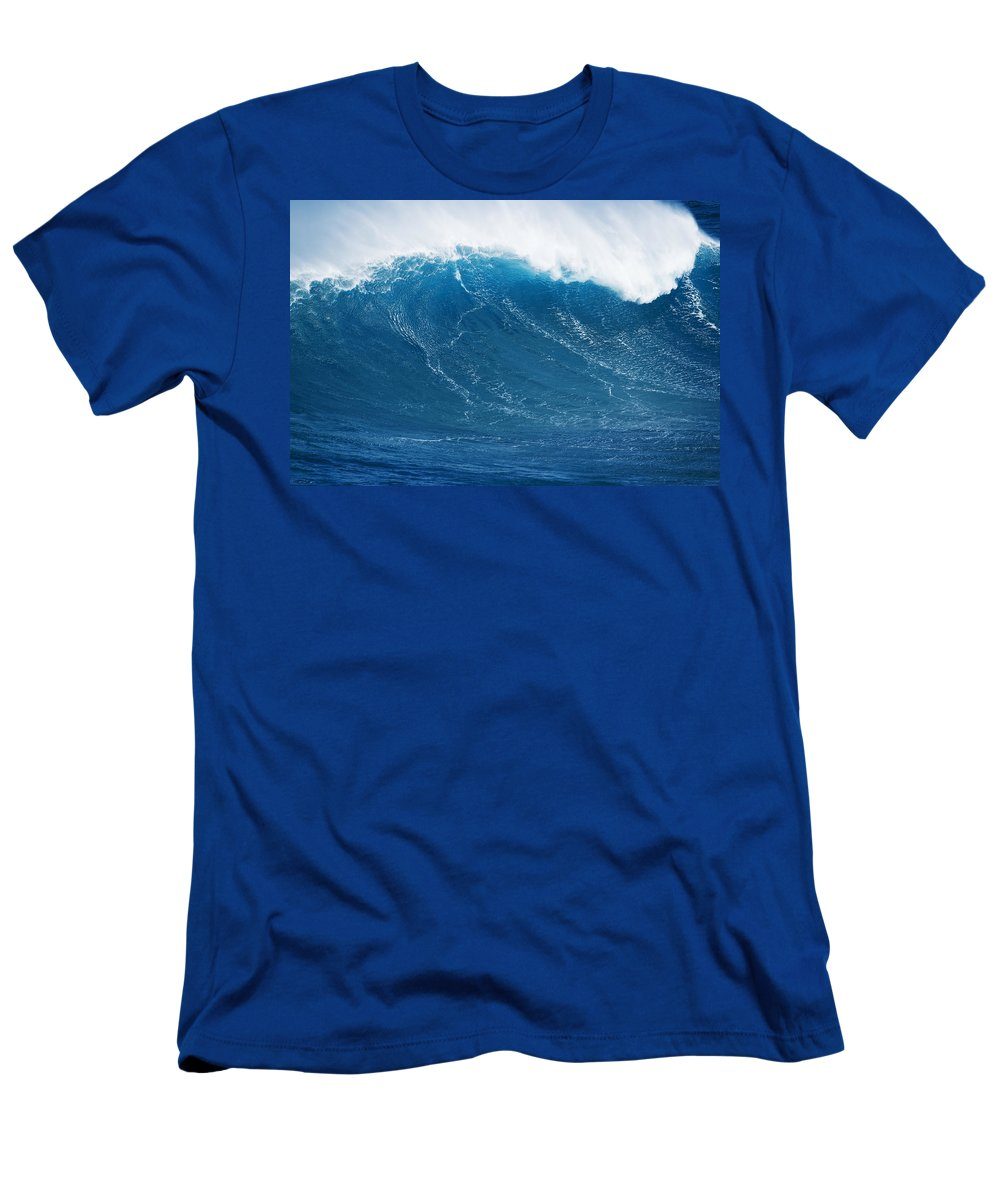 Big Men's T-Shirt (Athletic Fit) featuring the photograph Big Blue Wave by MakenaStockMedia - Printscapes
