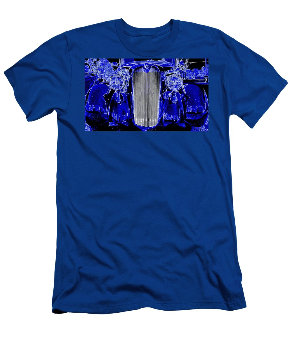 Car Men's T-Shirt (Athletic Fit) featuring the photograph Blue Coupe by J R Seymour