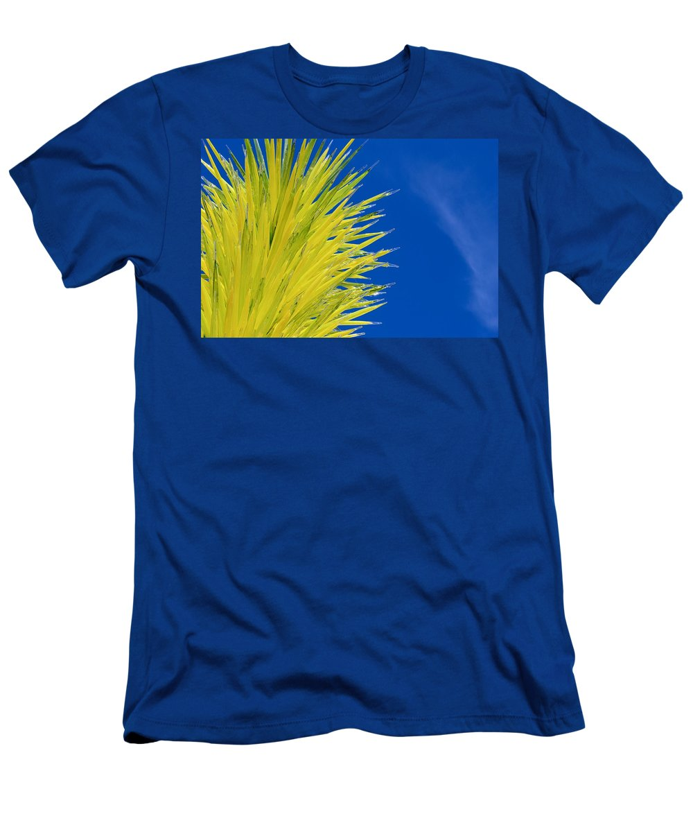 Dale Glass Tree Men's T-Shirt (Athletic Fit) featuring the photograph Chihuly Glass Tree by Eric Tressler