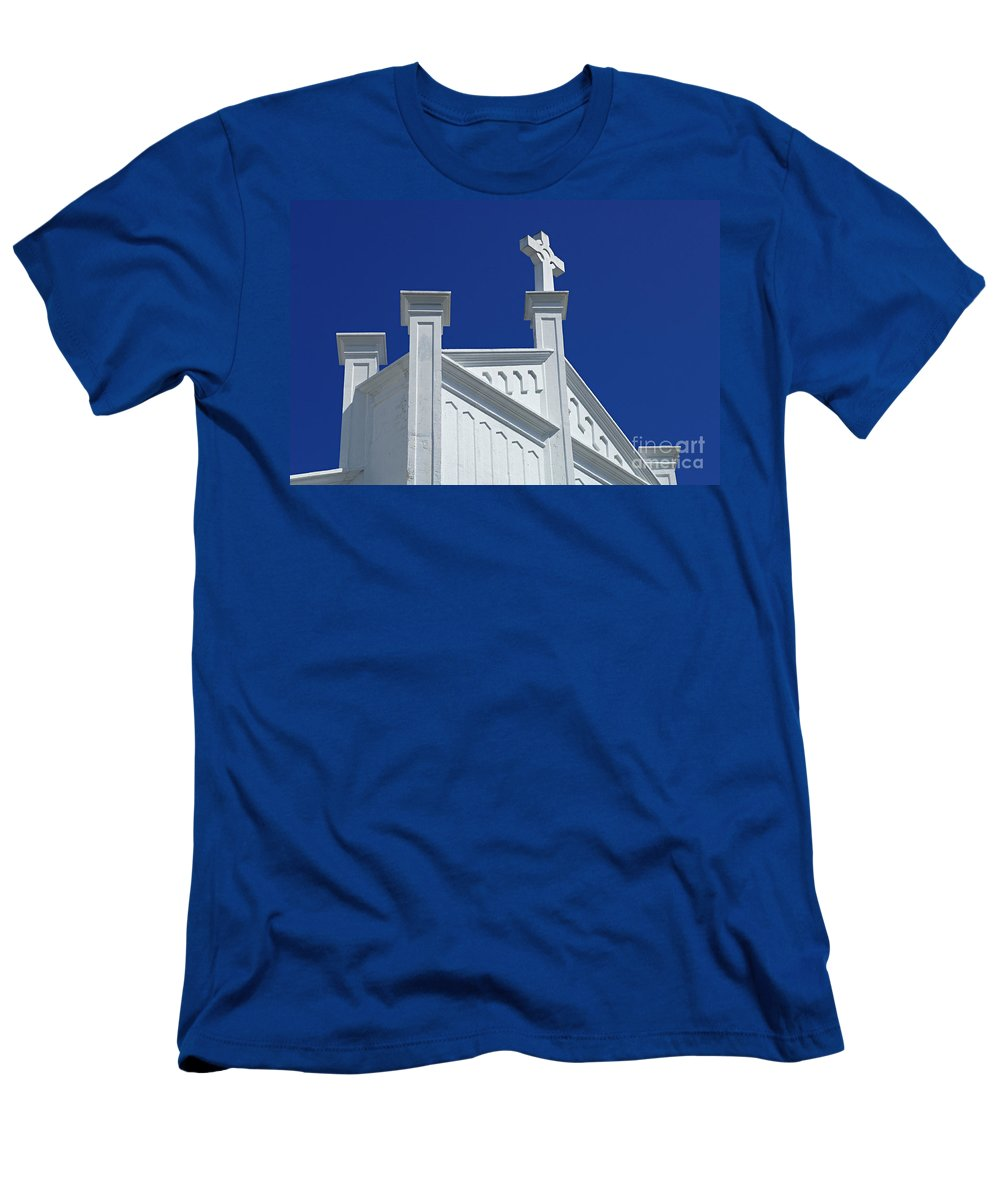 Church Men's T-Shirt (Athletic Fit) featuring the photograph Church Key West Florida by Bob Christopher