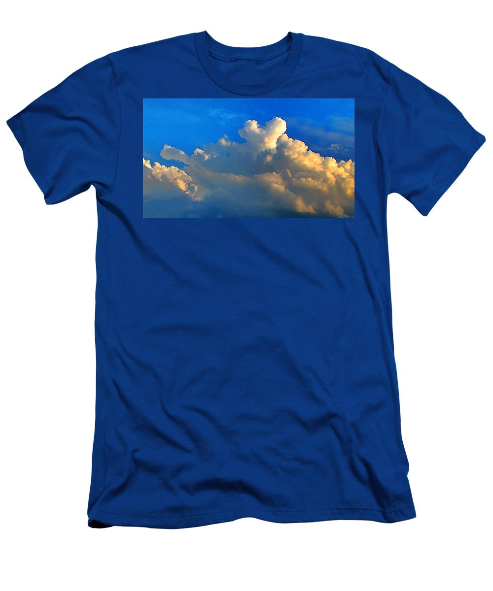 Morning Men's T-Shirt (Athletic Fit) featuring the photograph A Heart On Top Of The Clouds by Debbie Portwood