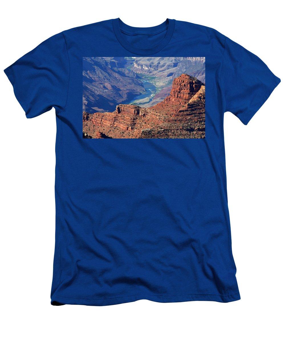 Colorado River Men's T-Shirt (Athletic Fit) featuring the photograph Colorado River I by Julie Niemela