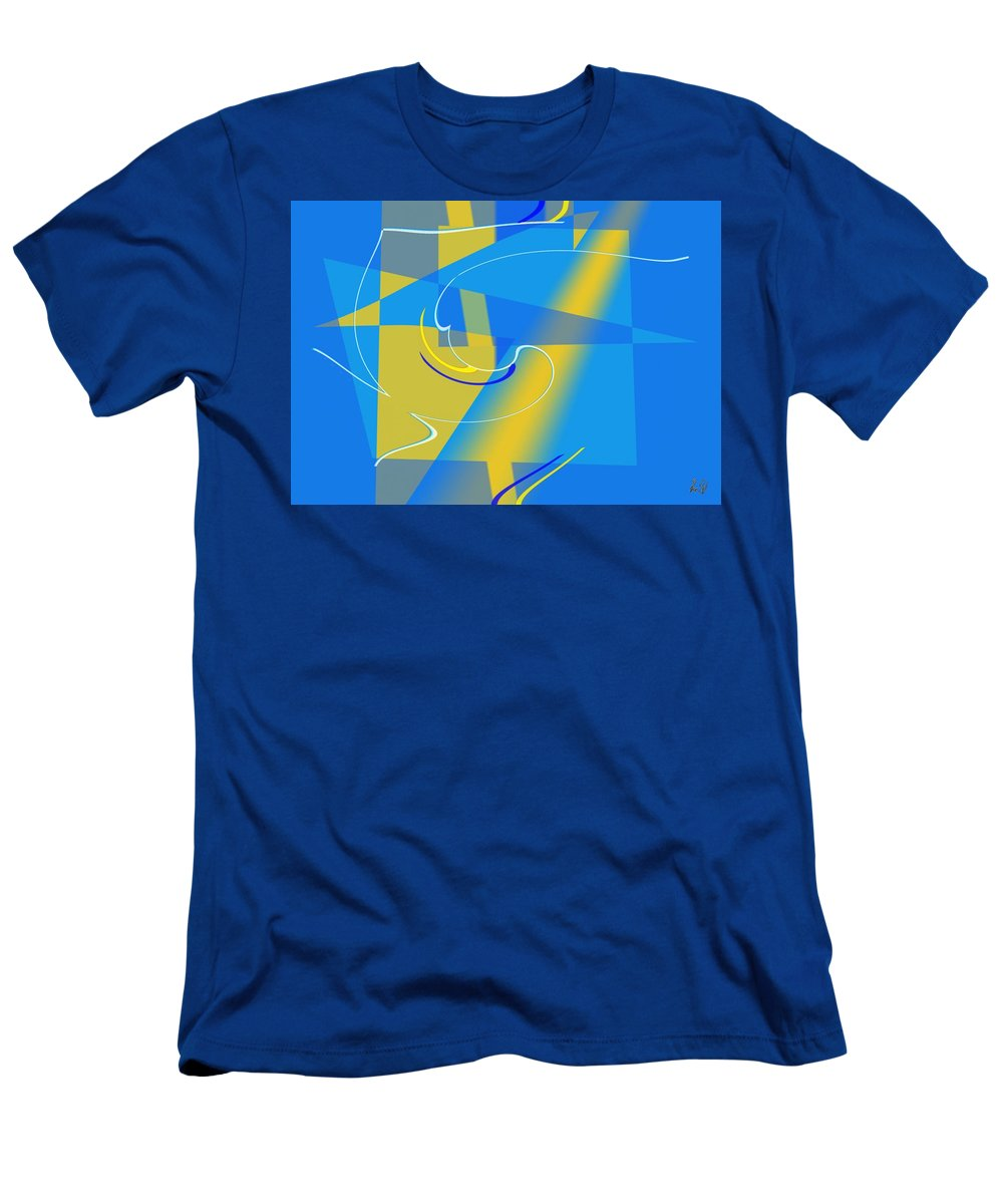 Cool Men's T-Shirt (Athletic Fit) featuring the digital art Coolbluelines by Helmut Rottler