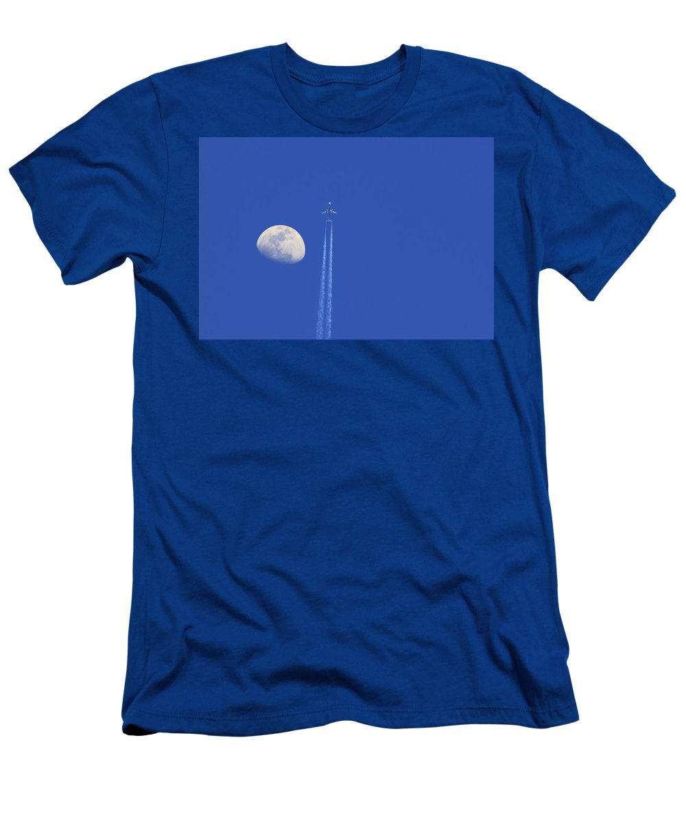 Air Men's T-Shirt (Athletic Fit) featuring the photograph Fly Me To The Moon by Ricky Barnard