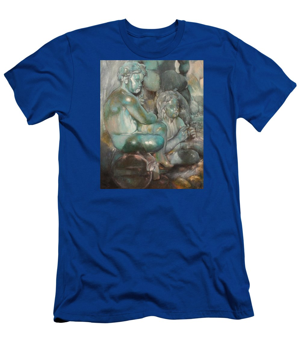 Art Fine T-Shirt featuring the painting Fuente Girondins-Detalle by Tomas Castano
