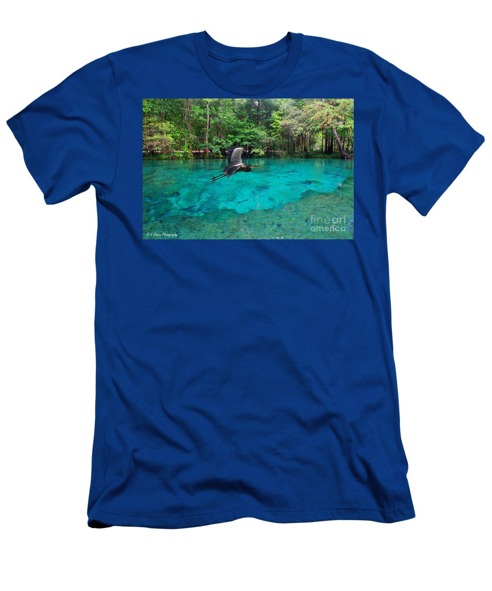 Ginnie Springs Men's T-Shirt (Athletic Fit) featuring the photograph Ginnie Springs by Barbara Bowen