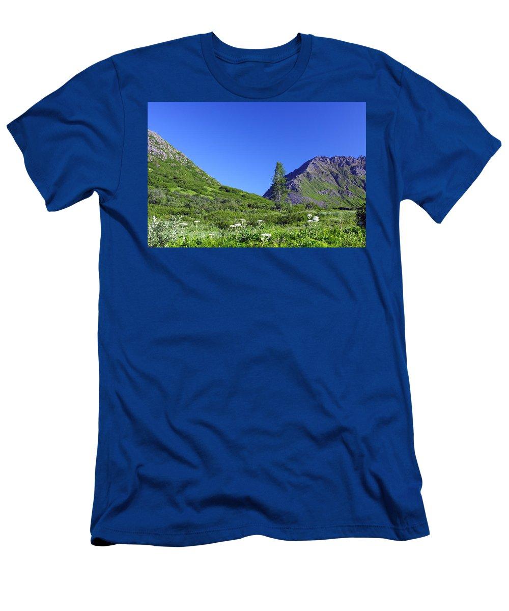 Doug Lloyd Men's T-Shirt (Athletic Fit) featuring the photograph Hatcher Pass Alaska by Doug Lloyd