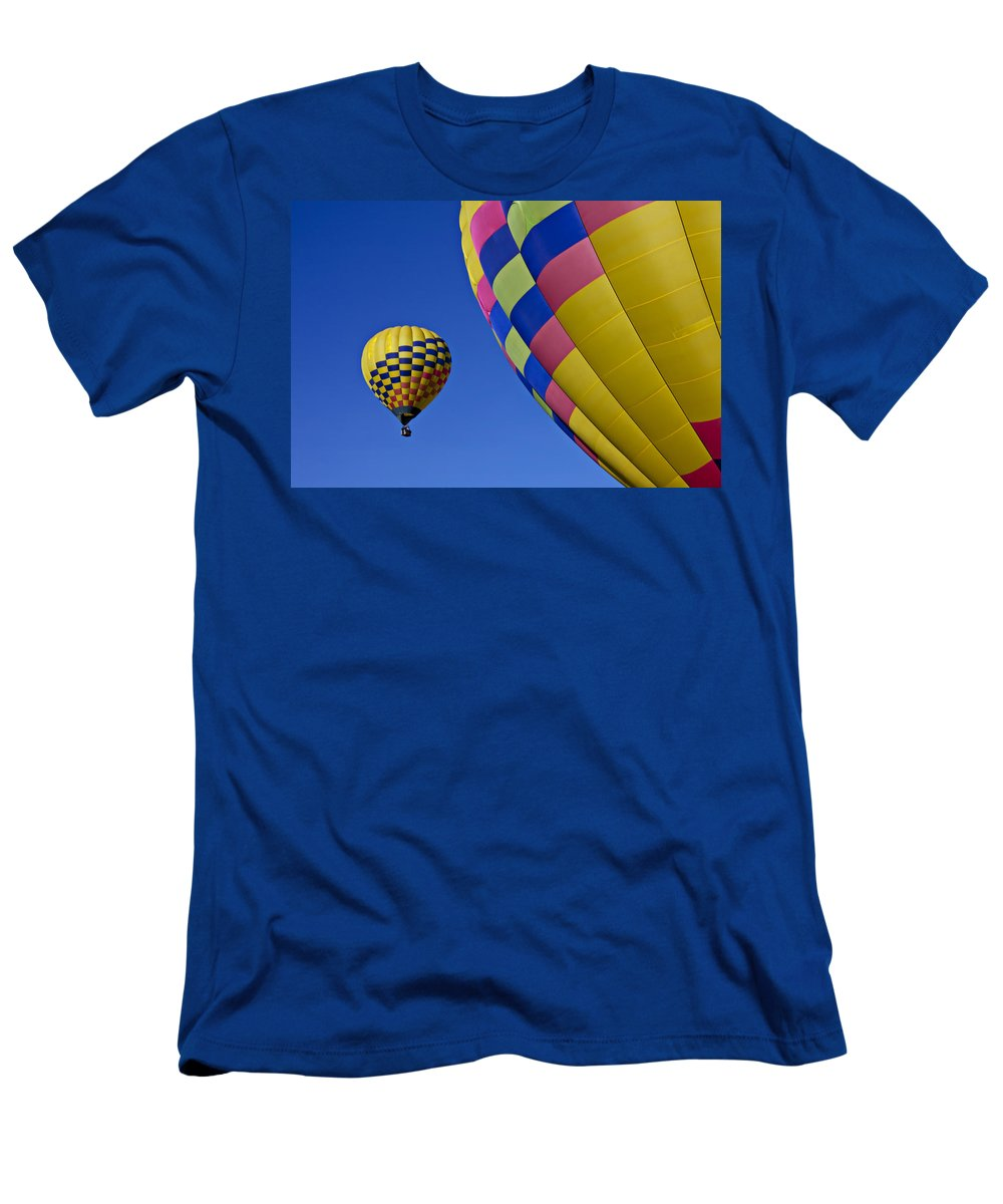 Hot Air Balloons Men's T-Shirt (Athletic Fit) featuring the photograph Hot Air Balloons by Garry Gay