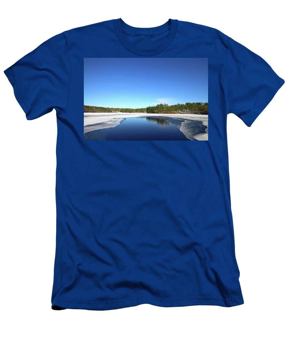 Landscape Men's T-Shirt (Athletic Fit) featuring the photograph Icing Call by Evelina Kremsdorf