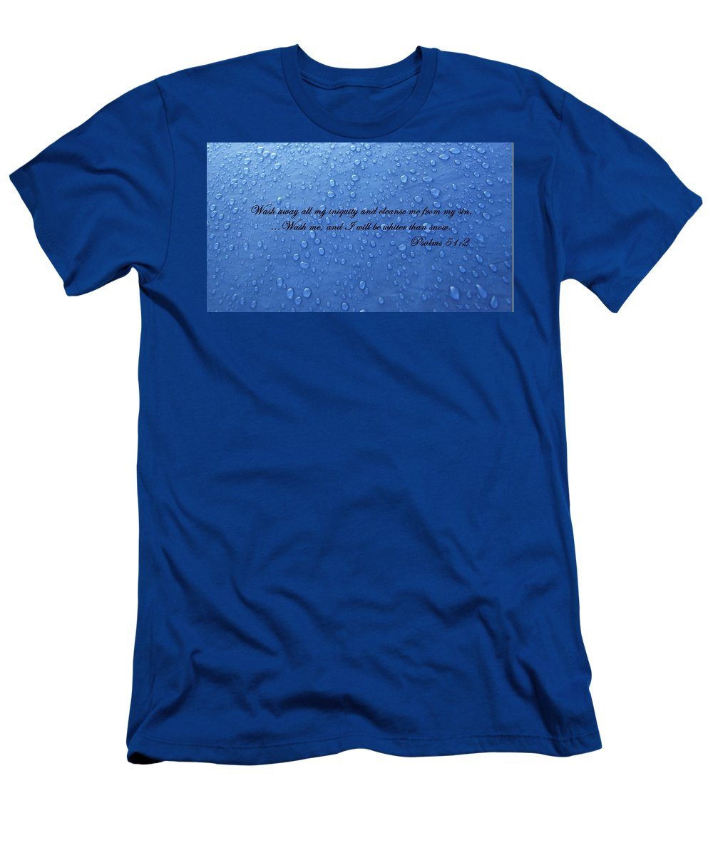 Water Men's T-Shirt (Athletic Fit) featuring the photograph Inspirations 15 by Sara Raber