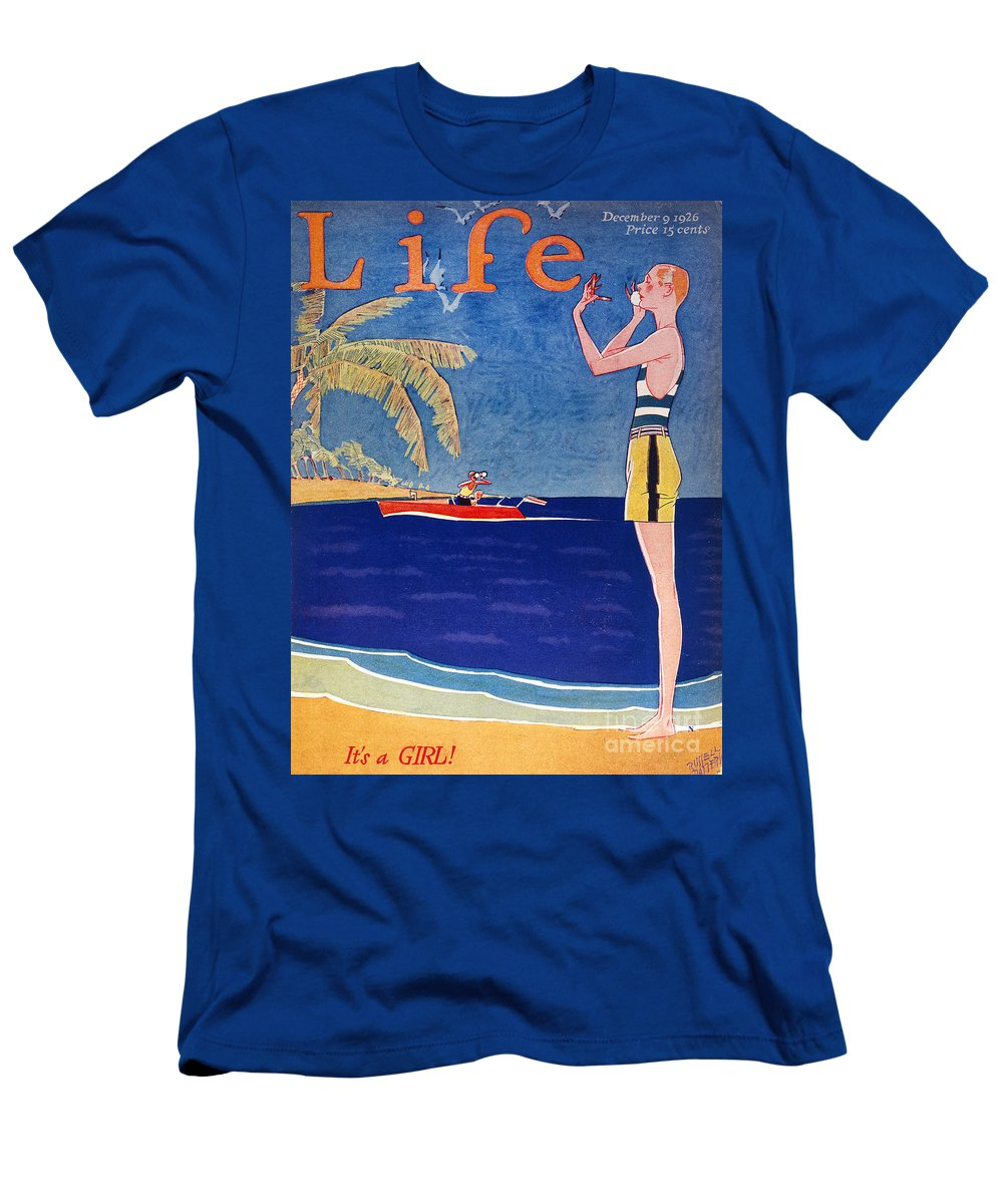 1926 Men's T-Shirt (Athletic Fit) featuring the photograph Life: Its A Girl, 1926 by Granger