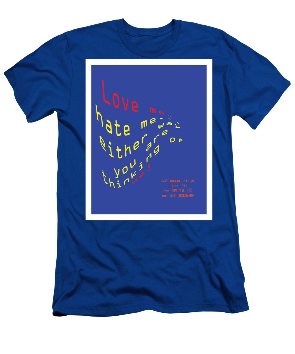 Men's T-Shirt (Athletic Fit) featuring the digital art Love Me by Taylor Webb