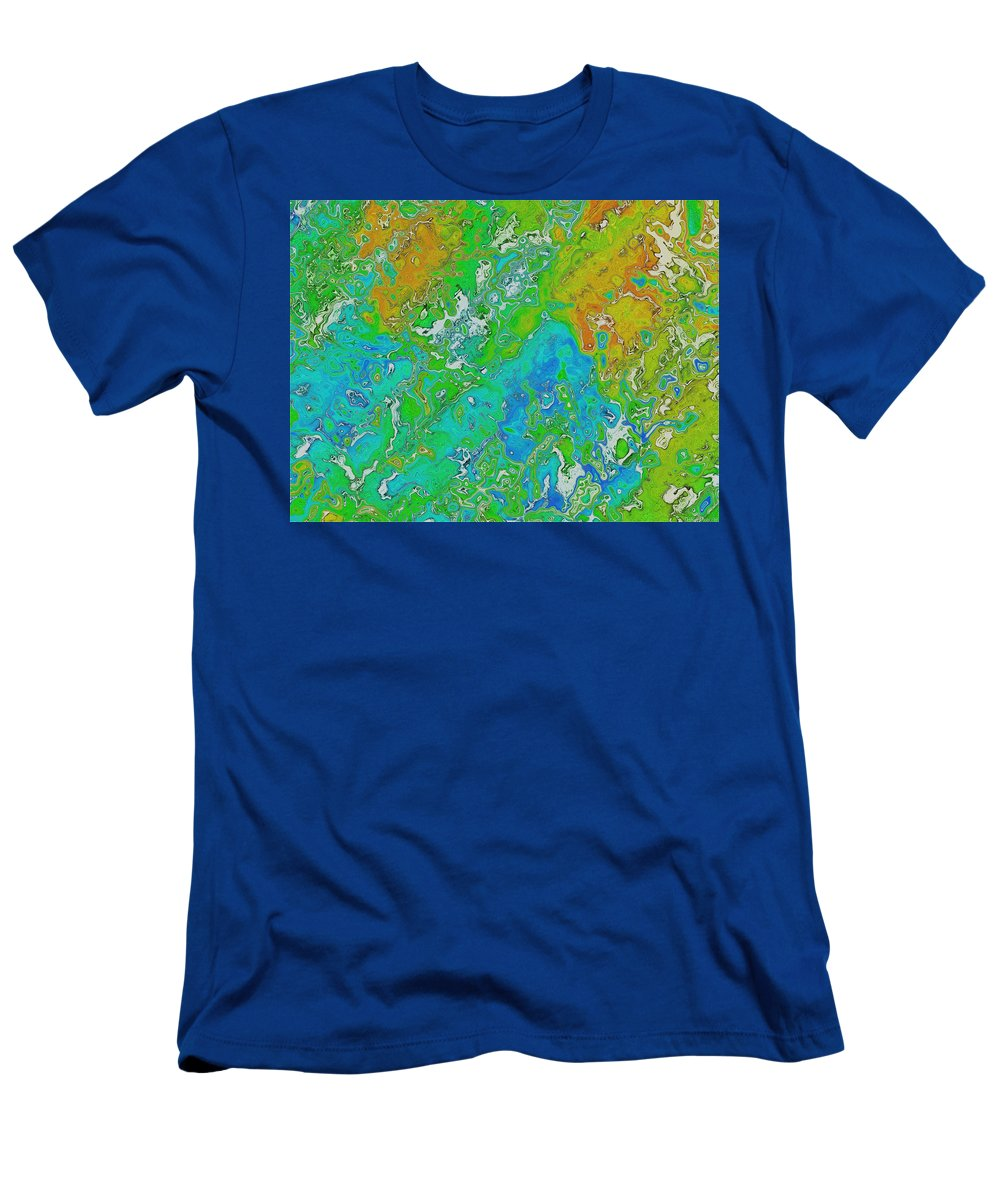 Digital Art Men's T-Shirt (Athletic Fit) featuring the digital art Messy Thick Paint by Debbie Portwood