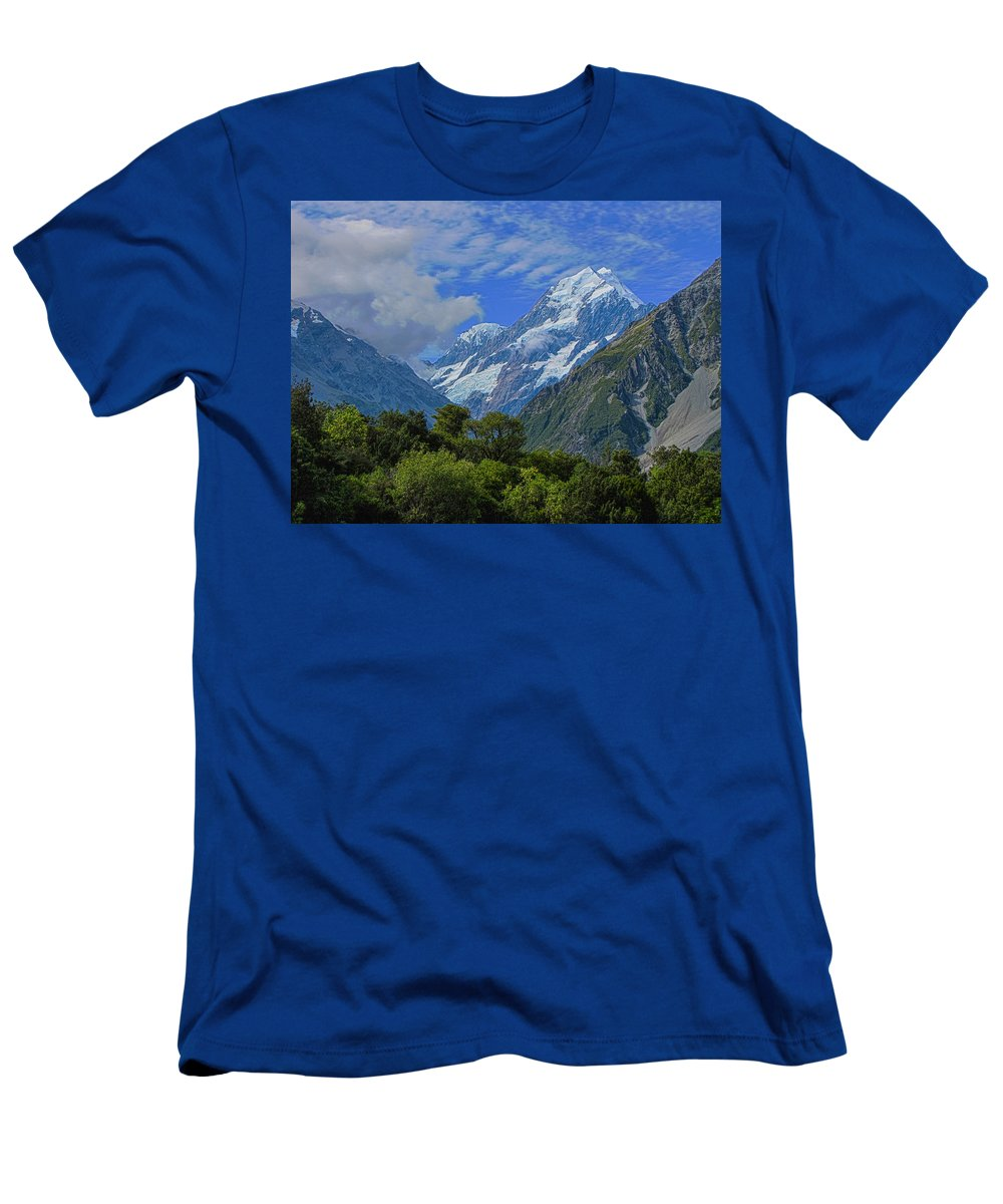 Mount Cook Men's T-Shirt (Athletic Fit) featuring the photograph Mount Cook by David Gleeson
