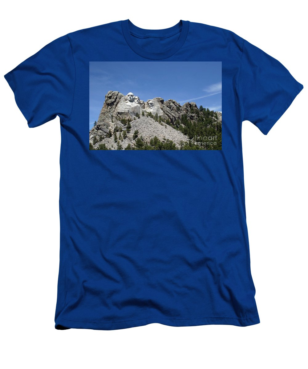 Mount Rushmore Men's T-Shirt (Athletic Fit) featuring the photograph Mount Rushmore Full View by Living Color Photography Lorraine Lynch