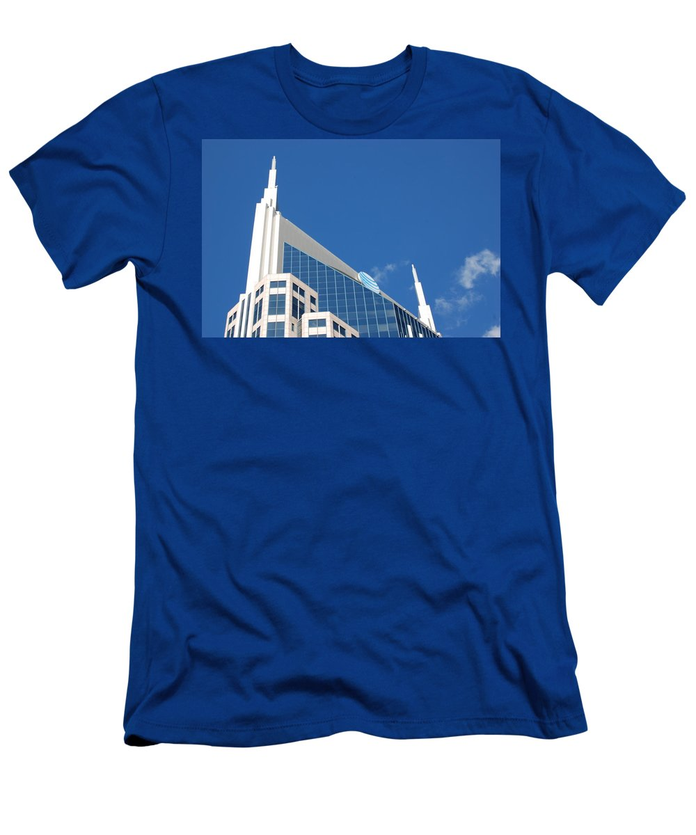 Nashville Men's T-Shirt (Athletic Fit) featuring the photograph Na Na Na Batman by Sheri Bartoszek