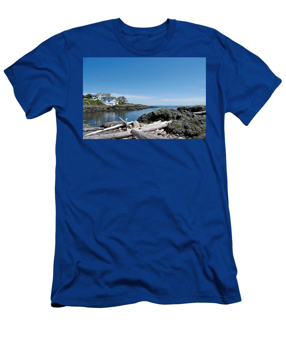 Ocean Men's T-Shirt (Athletic Fit) featuring the photograph Ocean Front Living by John Greaves