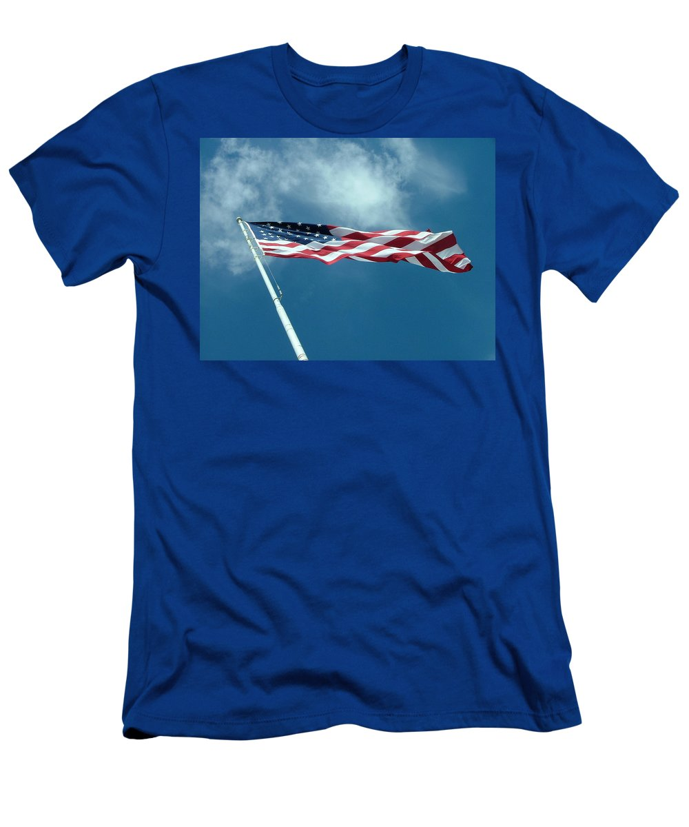 Red Men's T-Shirt (Athletic Fit) featuring the photograph Old Glory by Dennis Pintoski