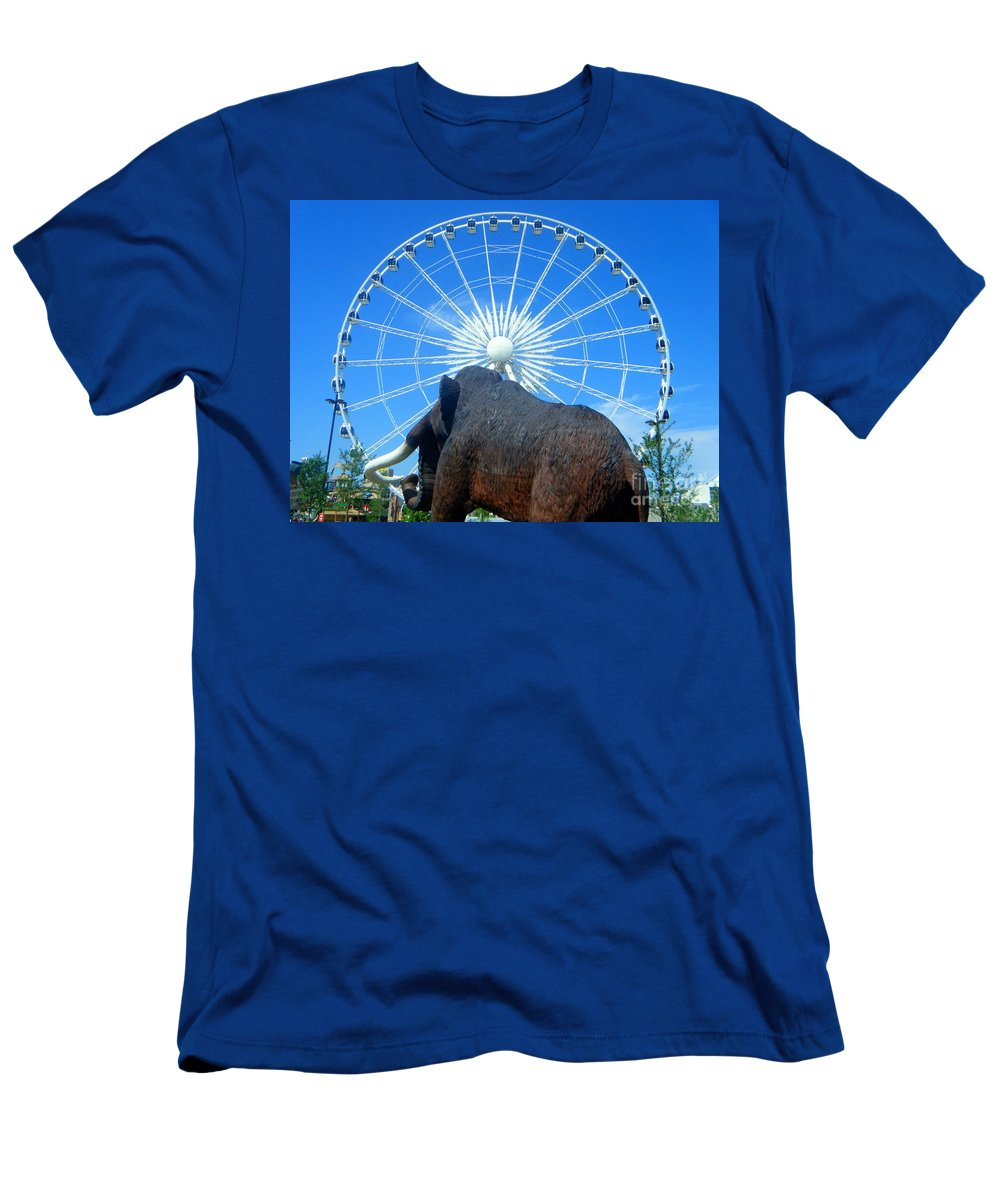 Skywheel Men's T-Shirt (Athletic Fit) featuring the photograph Over Mammoth Proportion by April Patterson