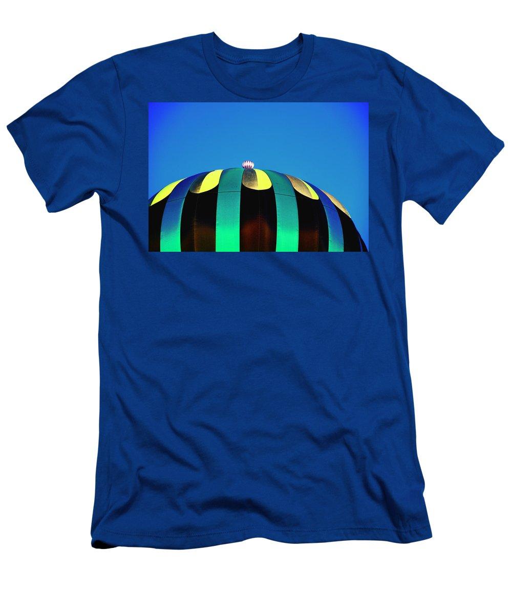 Hot Air Balloon Men's T-Shirt (Athletic Fit) featuring the digital art Overdone Blue by Gary Baird