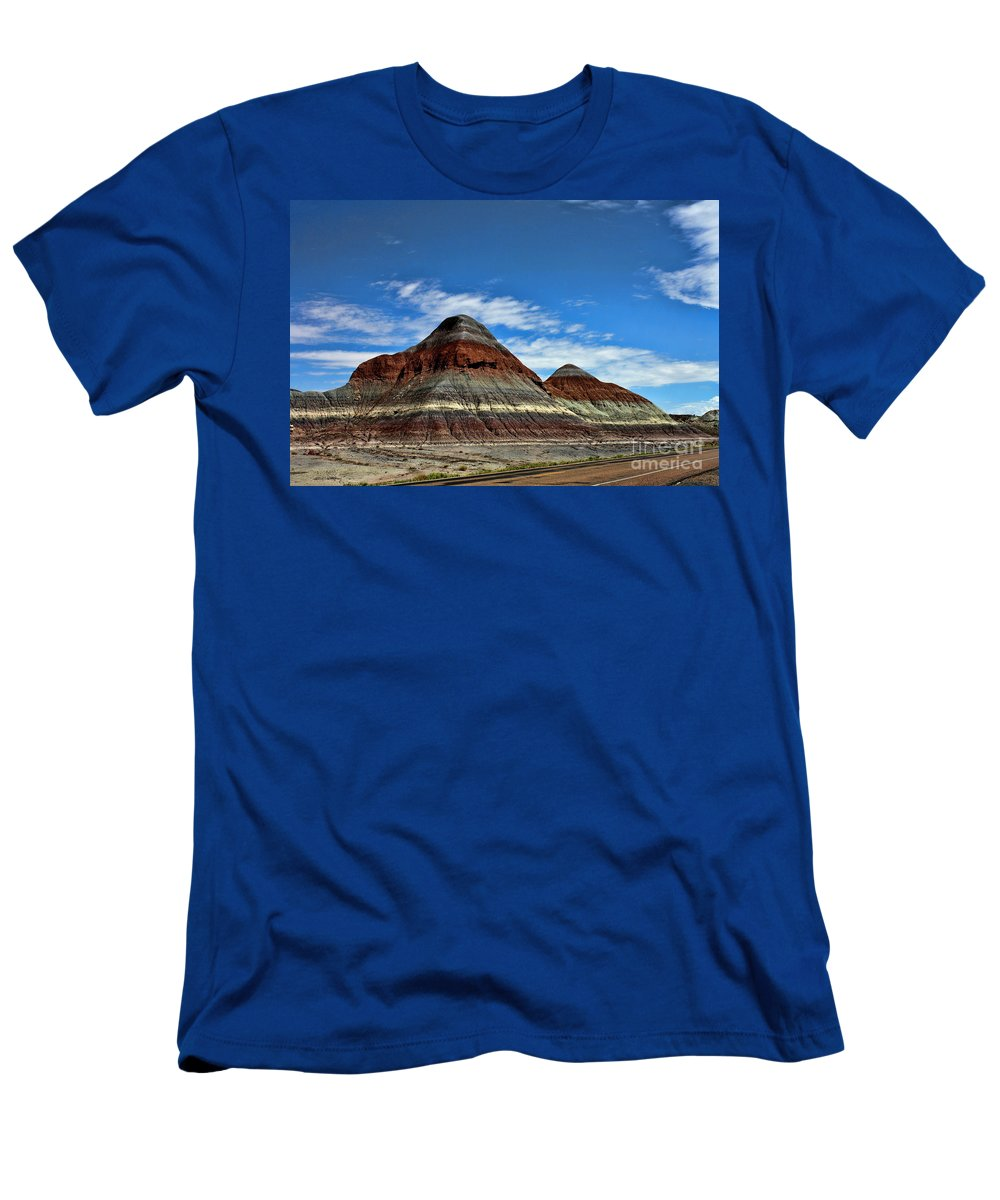 Petrified Forest National Park Men's T-Shirt (Athletic Fit) featuring the photograph Petrified Forest National Park by Tommy Anderson