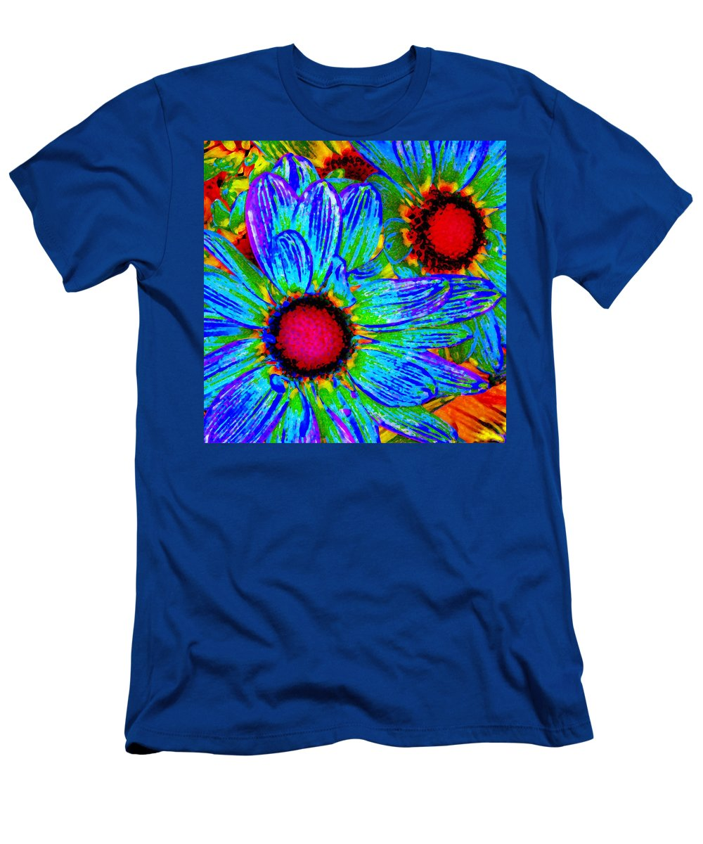Pop Daisy Men's T-Shirt (Athletic Fit) featuring the painting Pop Art Daisies 2 by Amy Vangsgard