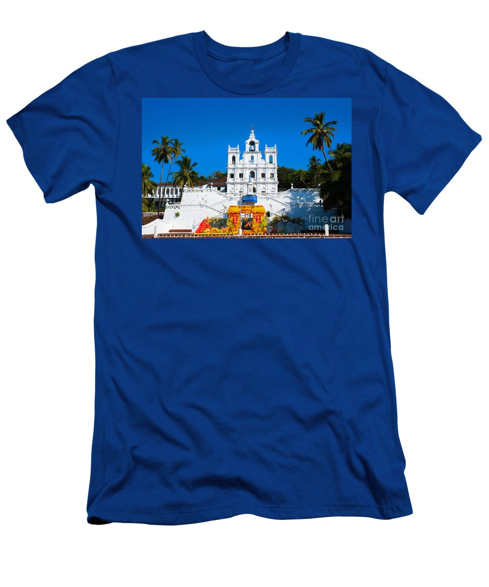 Church Men's T-Shirt (Athletic Fit) featuring the photograph Pray For Me by Dattaram Gawade