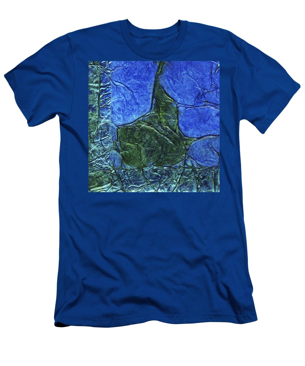 Abstract Men's T-Shirt (Athletic Fit) featuring the mixed media Rhapsody Of Colors 47 by Elisabeth Witte