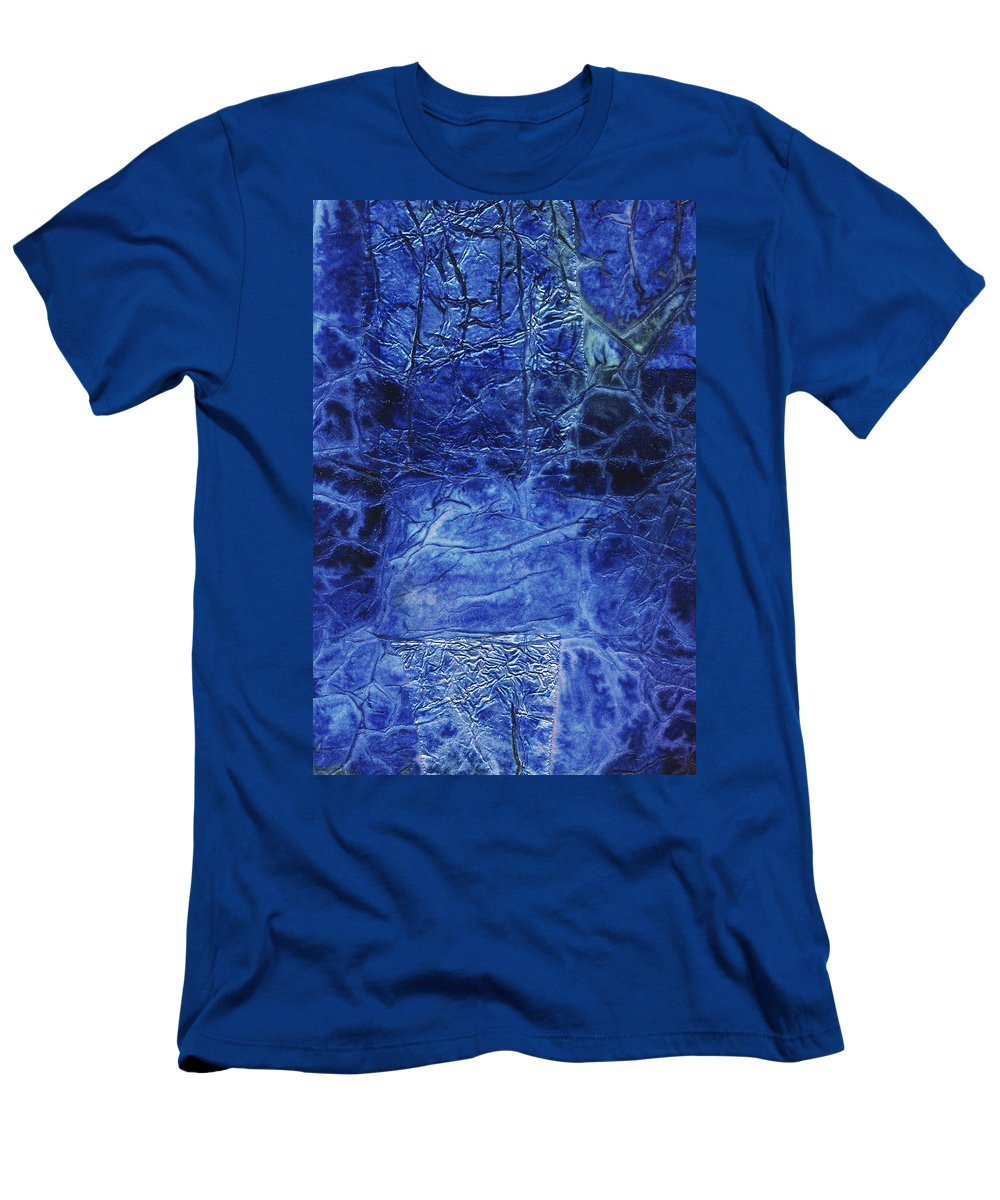 Abstract Men's T-Shirt (Athletic Fit) featuring the mixed media Rhapsody Of Colors 67 by Elisabeth Witte