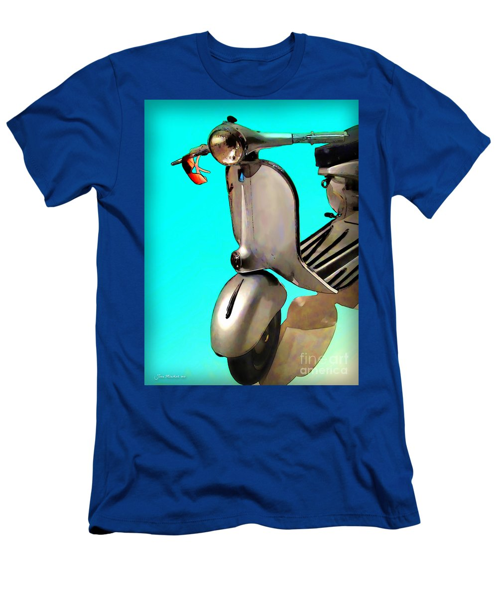Scooter Men's T-Shirt (Athletic Fit) featuring the photograph Scooter by Joan Minchak