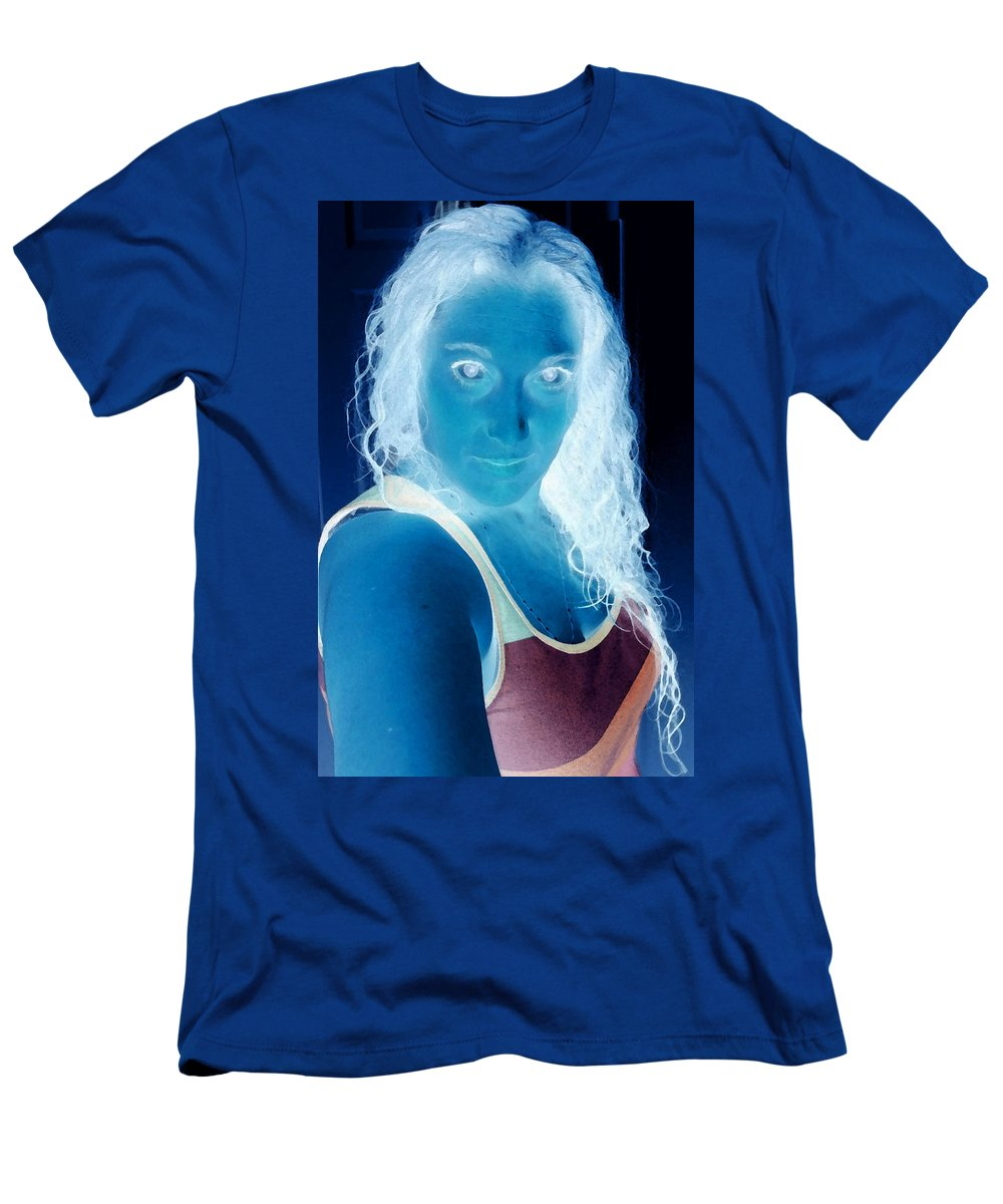 Blue Men's T-Shirt (Athletic Fit) featuring the photograph Self Portrait Front And Center by Teri Schuster