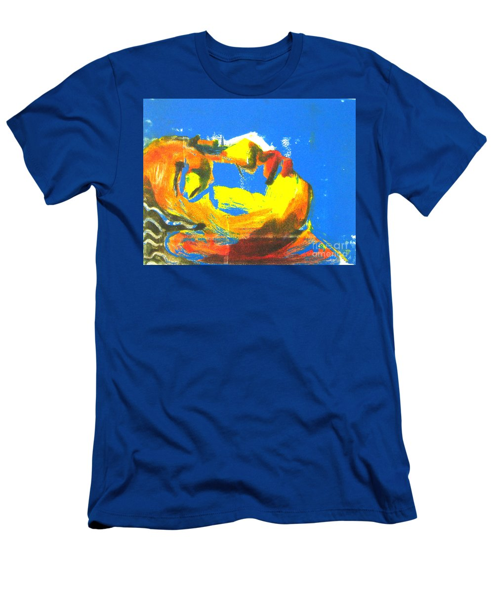 Figure Men's T-Shirt (Athletic Fit) featuring the painting Sleep by Gabrielle Wilson-Sealy