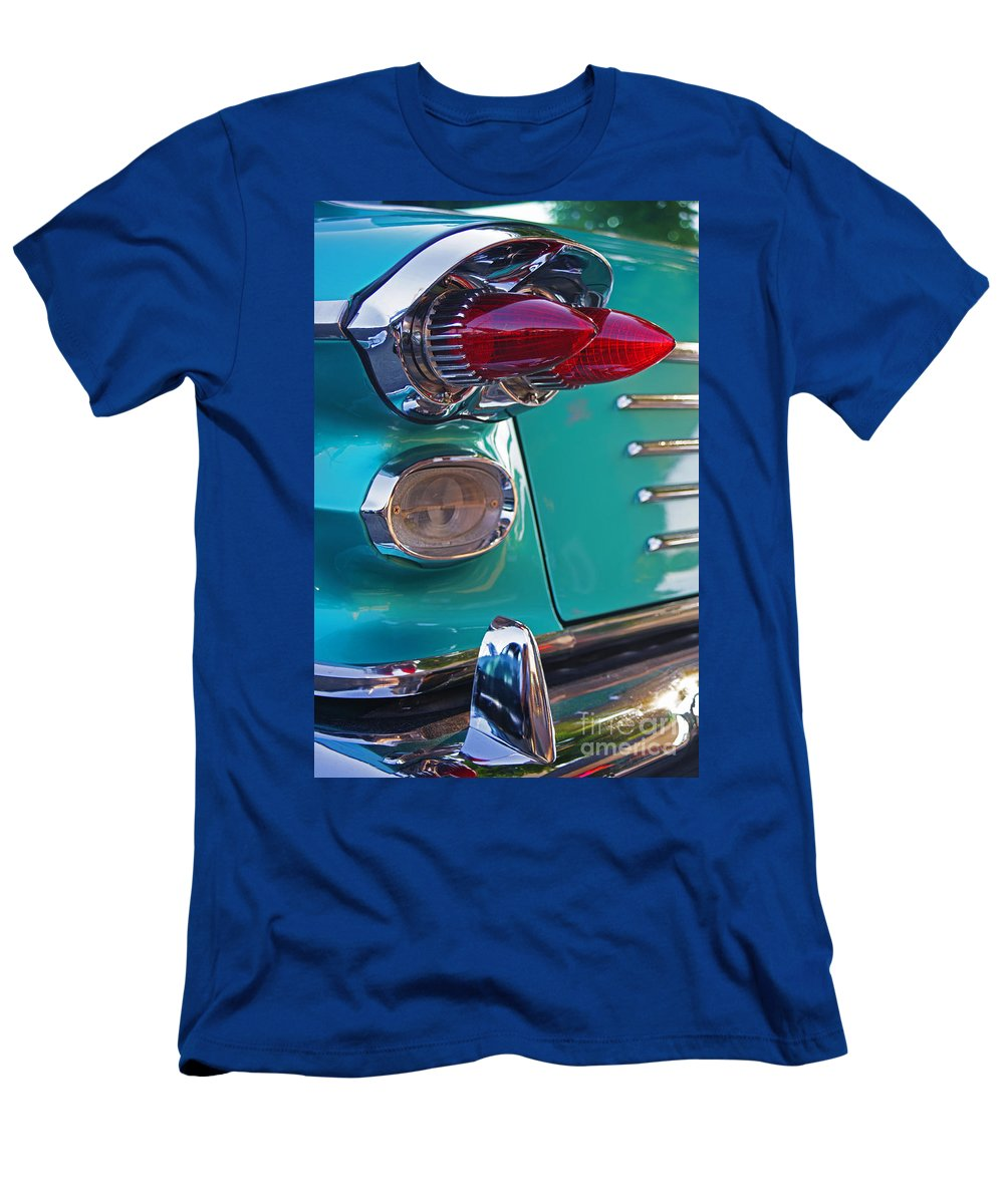Custom Cars Men's T-Shirt (Athletic Fit) featuring the photograph Striking Tail Lights by Randy Harris