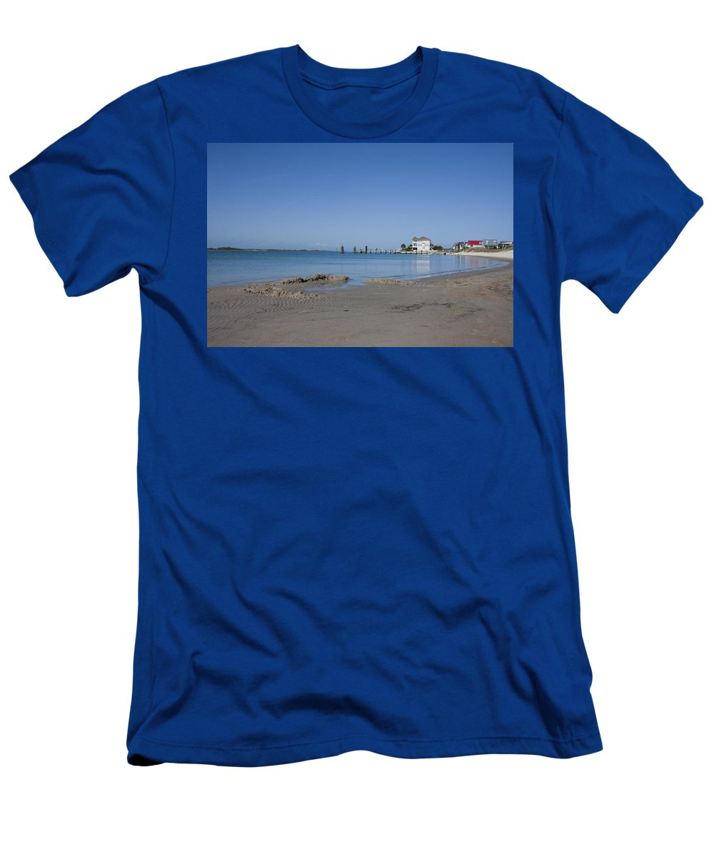 Topsail Men's T-Shirt (Athletic Fit) featuring the photograph The Point by Betsy Knapp