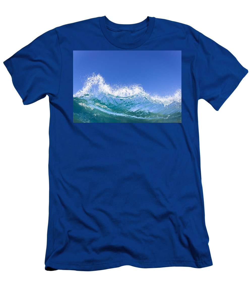 Amazing Men's T-Shirt (Athletic Fit) featuring the photograph Tip Of A Breaking Wave by MakenaStockMedia