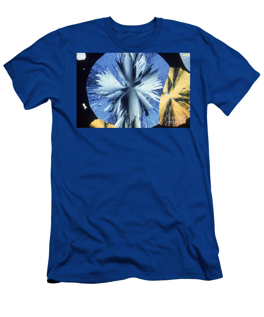 Vanillin Men's T-Shirt (Athletic Fit) featuring the photograph Vanillin Crystals by M. I. Walker