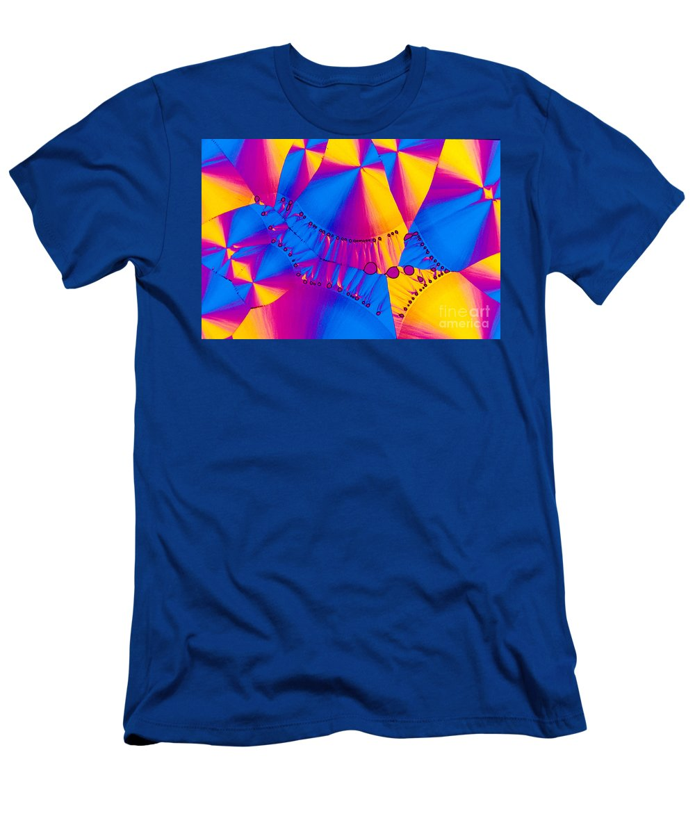 Chemistry Men's T-Shirt (Athletic Fit) featuring the photograph Vitamin B6 Crystal by Michael W Davidson