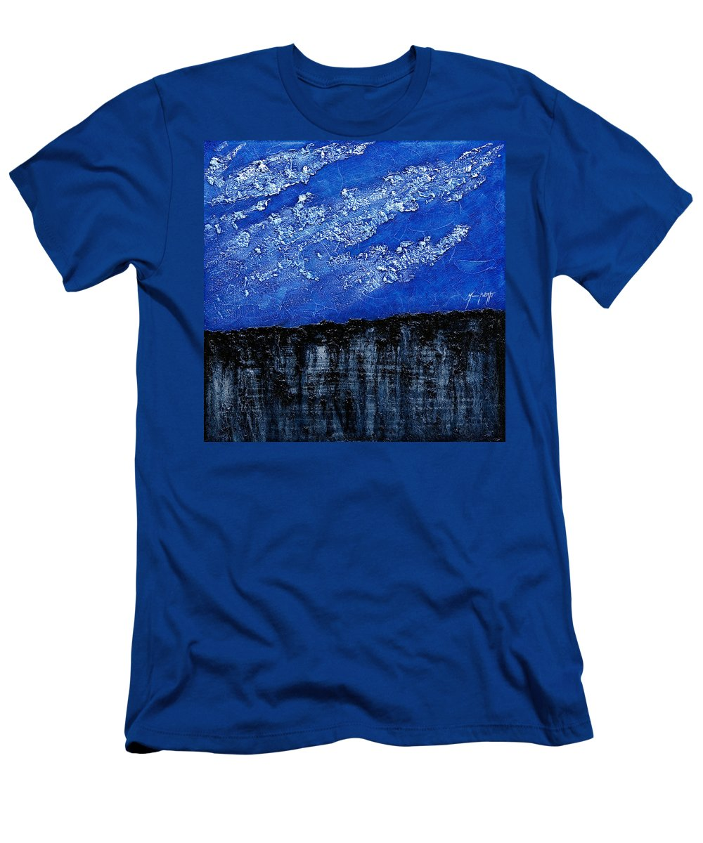 Art Men's T-Shirt (Athletic Fit) featuring the painting White Clouds by Mauro Celotti