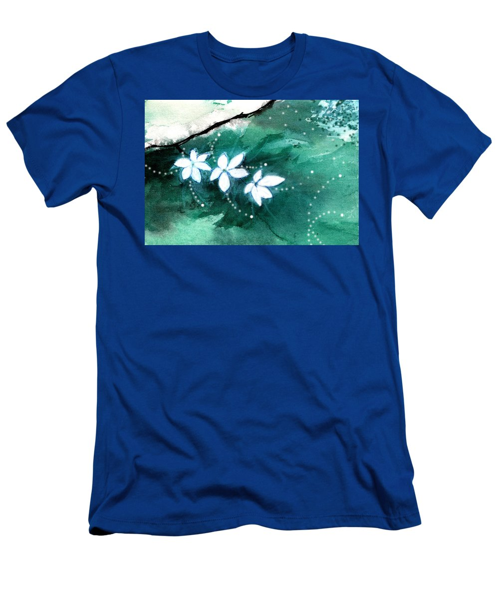 Nature T-Shirt featuring the painting White Flowers by Anil Nene