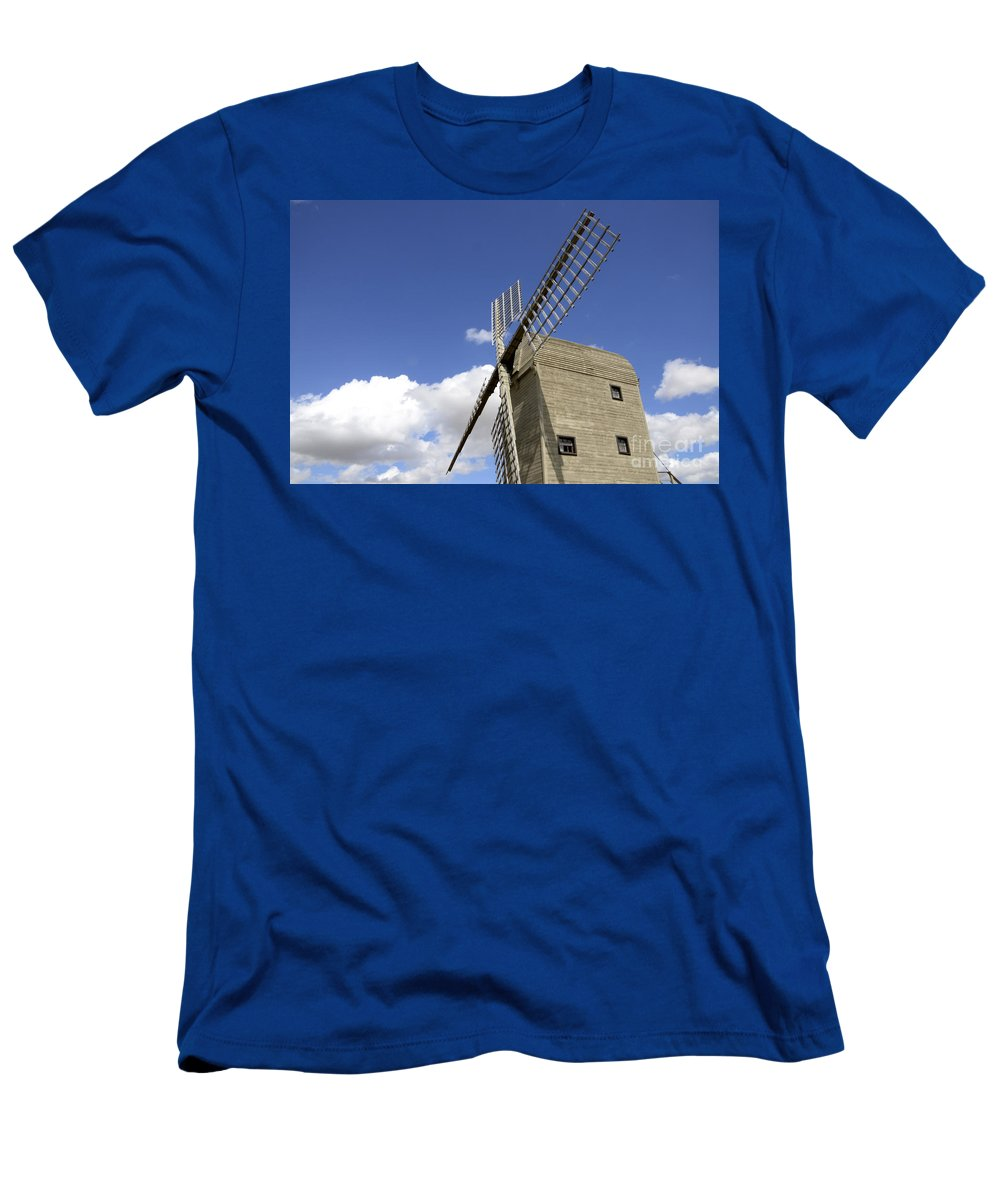 Windmill Men's T-Shirt (Athletic Fit) featuring the photograph Windmill 7 by Bob Christopher