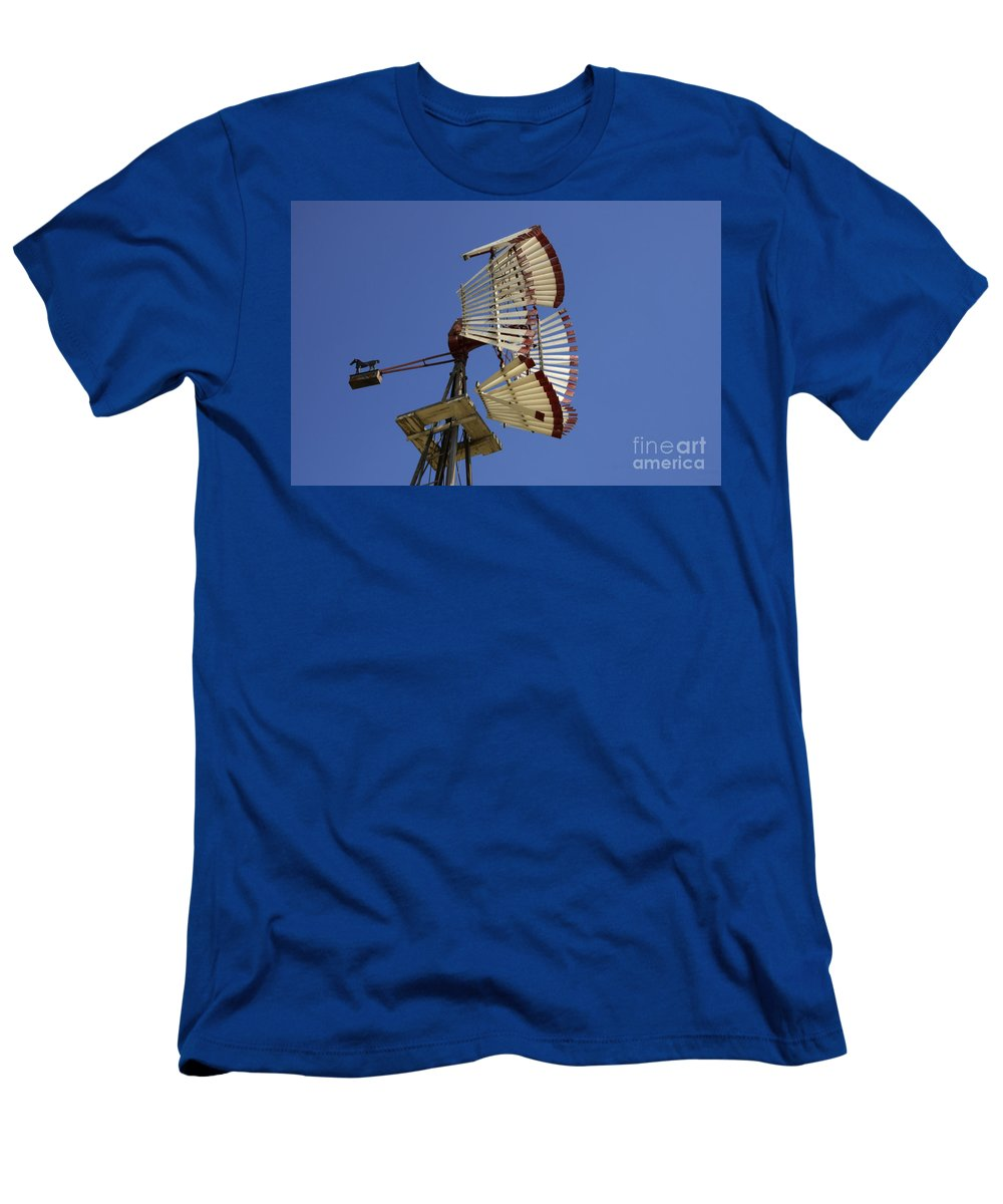 Windmill Men's T-Shirt (Athletic Fit) featuring the photograph Windmill 8 by Bob Christopher